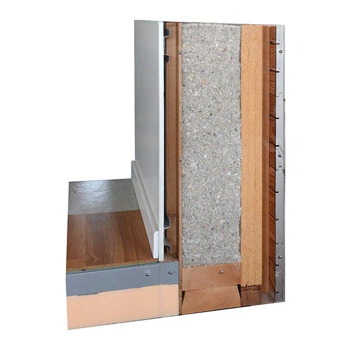 Coupe de mur de maison en bois